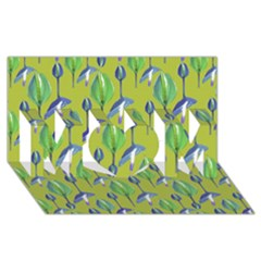 Tropical Floral Pattern MOM 3D Greeting Card (8x4)
