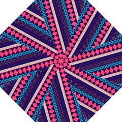 Purple And Pink Retro Geometric Pattern Hook Handle Umbrellas (Large)