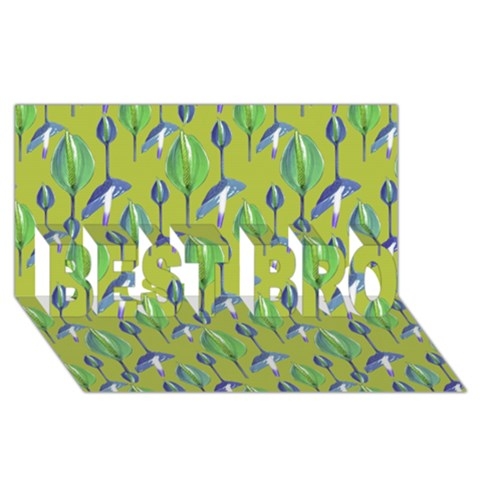 Tropical Floral Pattern BEST BRO 3D Greeting Card (8x4)