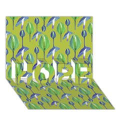 Tropical Floral Pattern HOPE 3D Greeting Card (7x5)