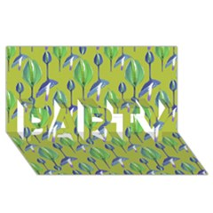 Tropical Floral Pattern Party 3d Greeting Card (8x4)