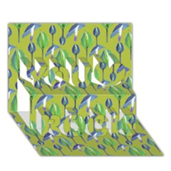 Tropical Floral Pattern You Rock 3D Greeting Card (7x5)