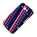 Purple And Pink Retro Geometric Pattern HTC ChaCha / HTC Status Hardshell Case  View4