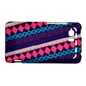 Purple And Pink Retro Geometric Pattern HTC Vivid / Raider 4G Hardshell Case  View1