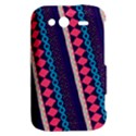 Purple And Pink Retro Geometric Pattern HTC Wildfire S A510e Hardshell Case View2