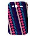 Purple And Pink Retro Geometric Pattern HTC Wildfire S A510e Hardshell Case View3