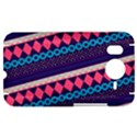 Purple And Pink Retro Geometric Pattern HTC Desire HD Hardshell Case  View1