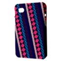 Purple And Pink Retro Geometric Pattern Samsung Galaxy Tab 7  P1000 Hardshell Case  View3