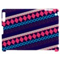 Purple And Pink Retro Geometric Pattern Apple iPad 2 Hardshell Case (Compatible with Smart Cover) View1