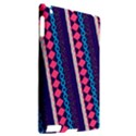 Purple And Pink Retro Geometric Pattern Apple iPad 2 Hardshell Case (Compatible with Smart Cover) View2