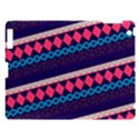 Purple And Pink Retro Geometric Pattern Apple iPad 3/4 Hardshell Case View1