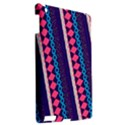 Purple And Pink Retro Geometric Pattern Apple iPad 3/4 Hardshell Case View2