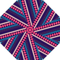 Purple And Pink Retro Geometric Pattern Hook Handle Umbrellas (Small)