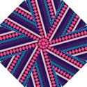 Purple And Pink Retro Geometric Pattern Hook Handle Umbrellas (Small) View1
