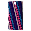 Purple And Pink Retro Geometric Pattern Sony Xperia S View3