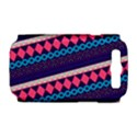 Purple And Pink Retro Geometric Pattern Samsung Galaxy S III Hardshell Case (PC+Silicone) View1