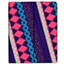 Purple And Pink Retro Geometric Pattern Apple iPad 2 Flip Case View1