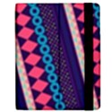 Purple And Pink Retro Geometric Pattern Apple iPad 2 Flip Case View2