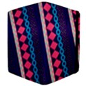 Purple And Pink Retro Geometric Pattern Apple iPad 2 Flip Case View4