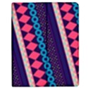 Purple And Pink Retro Geometric Pattern Apple iPad Mini Flip Case View1