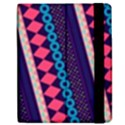 Purple And Pink Retro Geometric Pattern Apple iPad Mini Flip Case View2