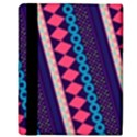 Purple And Pink Retro Geometric Pattern Apple iPad Mini Flip Case View3