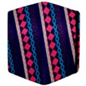 Purple And Pink Retro Geometric Pattern Apple iPad Mini Flip Case View4