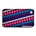Purple And Pink Retro Geometric Pattern Apple iPhone 3G/3GS Hardshell Case (PC+Silicone) View1