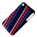 Purple And Pink Retro Geometric Pattern Apple iPhone 3G/3GS Hardshell Case (PC+Silicone) View4