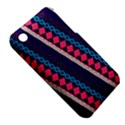 Purple And Pink Retro Geometric Pattern Apple iPhone 3G/3GS Hardshell Case (PC+Silicone) View5