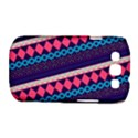 Purple And Pink Retro Geometric Pattern Samsung Galaxy S III Classic Hardshell Case (PC+Silicone) View1