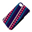 Purple And Pink Retro Geometric Pattern Apple iPhone 4/4S Hardshell Case with Stand View4