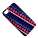 Purple And Pink Retro Geometric Pattern Apple iPhone 4/4S Hardshell Case with Stand View5
