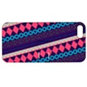 Purple And Pink Retro Geometric Pattern Apple iPhone 5 Hardshell Case with Stand View1