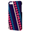 Purple And Pink Retro Geometric Pattern Apple iPhone 5 Hardshell Case with Stand View3