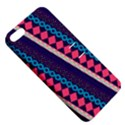 Purple And Pink Retro Geometric Pattern Apple iPhone 5 Hardshell Case with Stand View5