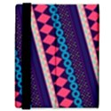 Purple And Pink Retro Geometric Pattern Samsung Galaxy Tab 8.9  P7300 Flip Case View3