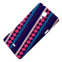 Purple And Pink Retro Geometric Pattern Sony Xperia T View4