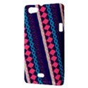Purple And Pink Retro Geometric Pattern Sony Xperia Miro View3