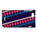 Purple And Pink Retro Geometric Pattern Sony Xperia J View1
