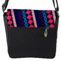 Purple And Pink Retro Geometric Pattern Flap Messenger Bag (S) View1