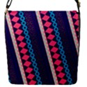 Purple And Pink Retro Geometric Pattern Flap Covers (S)  View1