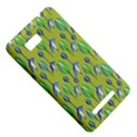 Tropical Floral Pattern HTC One SU T528W Hardshell Case View5
