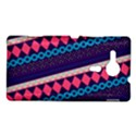 Purple And Pink Retro Geometric Pattern Sony Xperia SP View1