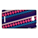 Purple And Pink Retro Geometric Pattern Sony Xperia C (S39H) View1