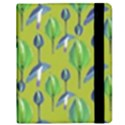 Tropical Floral Pattern Samsung Galaxy Tab 8.9  P7300 Flip Case View2
