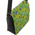 Tropical Floral Pattern Flap Messenger Bag (L)  View2