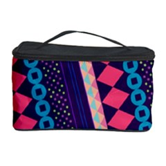 Purple And Pink Retro Geometric Pattern Cosmetic Storage Case