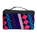 Purple And Pink Retro Geometric Pattern Cosmetic Storage Case View1