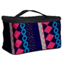 Purple And Pink Retro Geometric Pattern Cosmetic Storage Case View2